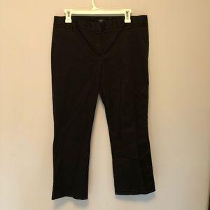 J Crew City Fit Black Pants 8